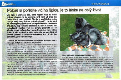 Vlčí špic   Leonberger - Fotoalbum - Zajímavé články 896142d60b